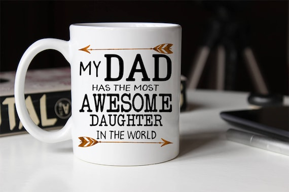 Funny Dad Mug From Daughter funny fathers day Funny Dad mug Fathers Day Gift Custom Tumbler Dad Gift From Daughter funny dad gift