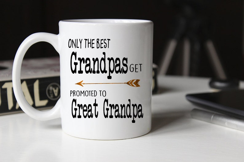 93d3f441bfc Only the best grandpas get promoted to great grandpa grandpa | Etsy