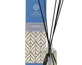 Amy Victoria Lemongrass & Black Pepper Essential Oil Reed Diffuser