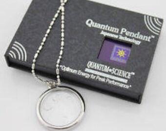Quantum pendant etsy new quantum science scalar bio disc energy pendant necklace scalar energy necklace aura pendant scalar energy necklace aids in healing aloadofball Choice Image
