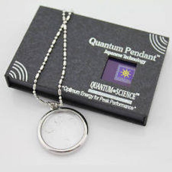 New quantum science scalar bio disc energy pendant necklace aloadofball Choice Image