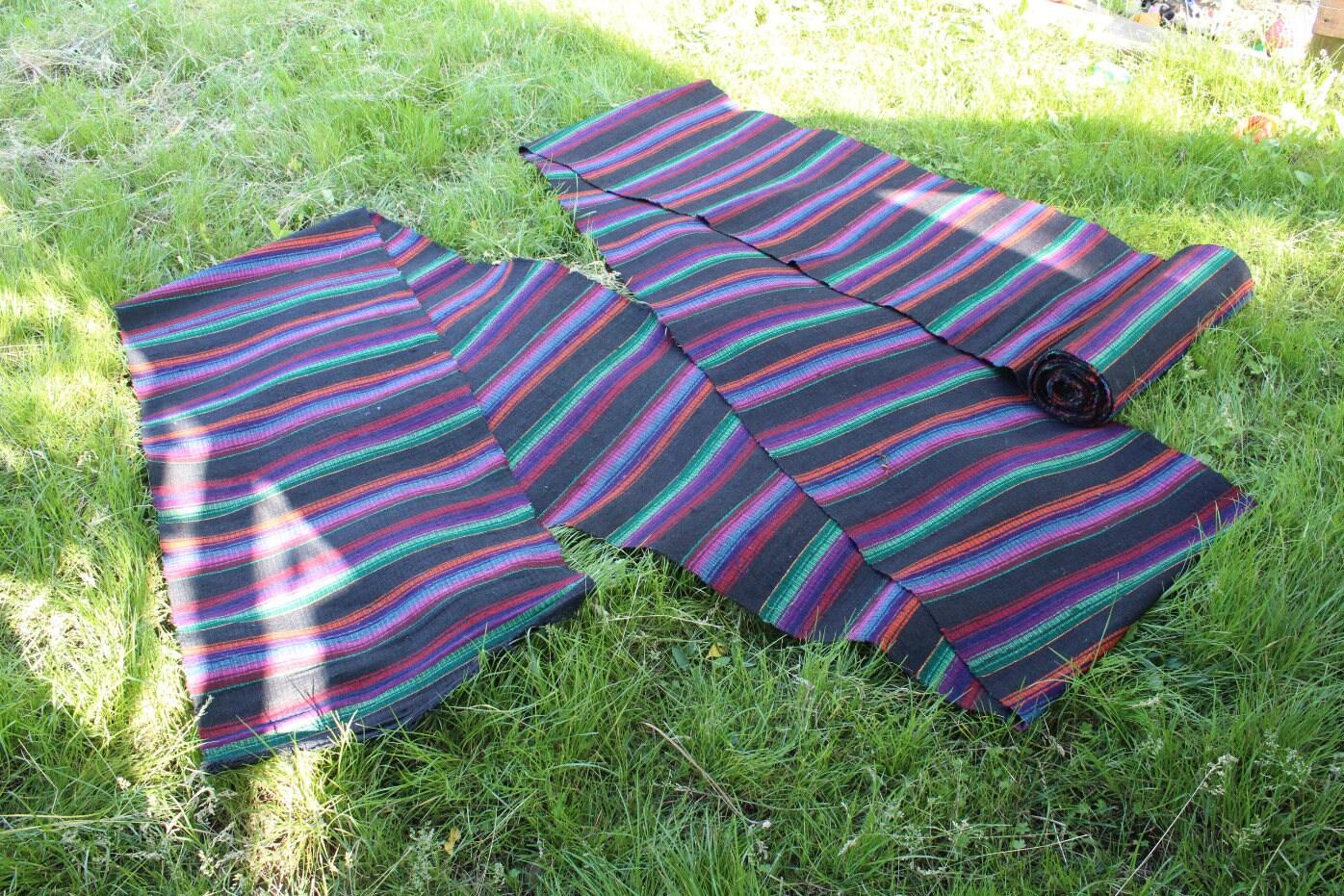 chemin de tapis ukrainien de chanvre long vintage en laine etsy. Black Bedroom Furniture Sets. Home Design Ideas