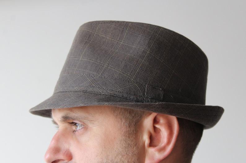 1c43f94c516ba Vintage hat.Brown tweed fedora.Brown tweed vintage Fedora hat