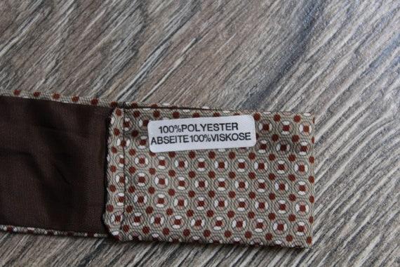 Ascot cravat Vintage tie Brown tie Menswear accessories.Unisex Viscose scarf.Mens retro tie.Ascot tie.Viscose ascot tie.Vintage mens wear