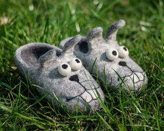 Baby gift Easter bunny slippers Baby slippers Felted slippers wool shoes girls slippers Baby shoes wool slippers boys slippers