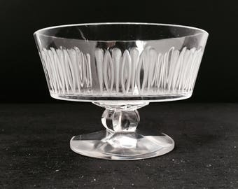Lalique Isabelle Footed Compote Open Candy Dish  477883 Pattern Code CLQISA