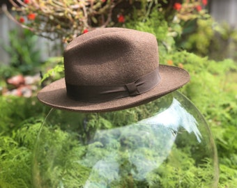 6ccb5ae7d81 Fedora Rabbit Hair Felt from Brooks Brothers Made in Italy