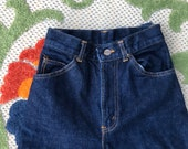Vintage NOS Chic Jeans, High Waist Skinny Dark Wash Denim, 1980s Junior 3 4, Extra Tiny