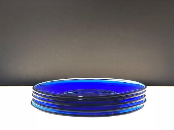 Plaques de verre dépression Vintage bleu Cobalt   Etsy dccc2baa5e8