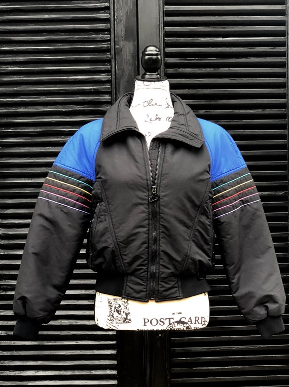 Vintage 1980s Ski Jacket Puffy Coat White Stag Thi