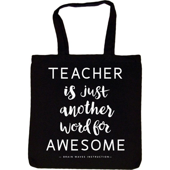 Items Similar To Teacher Tote Bag Teacher Is Just Another Word For