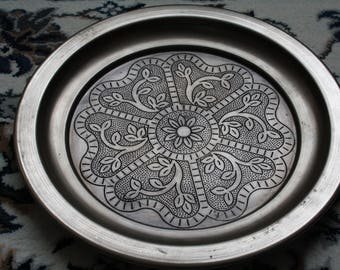 Bohemian Silver Coloured Tray