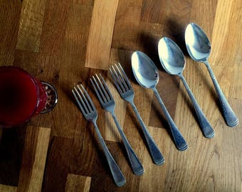 Sola Cutlery 3 Forks and 3 Spoons