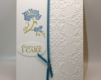 Thinking of you - Sympathy Card in Blue