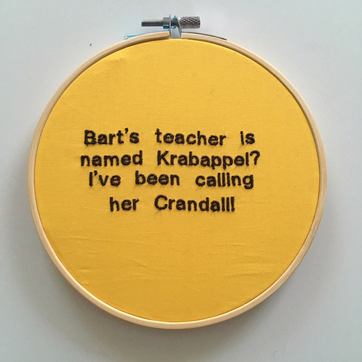 KRABAPPEL CRANDALL The Simpsons Embroidery Hoop Wall Art | Etsy