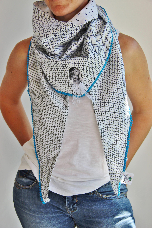 Women Reversible Cotton Scarf Pom Pom Scarf Oversized Scarf   Etsy 0496cffc0e6