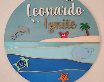 Leonardo Ocean Sign SVG File