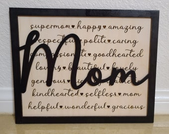 """Mother's day """"Mom Sign"""" Customizable"""
