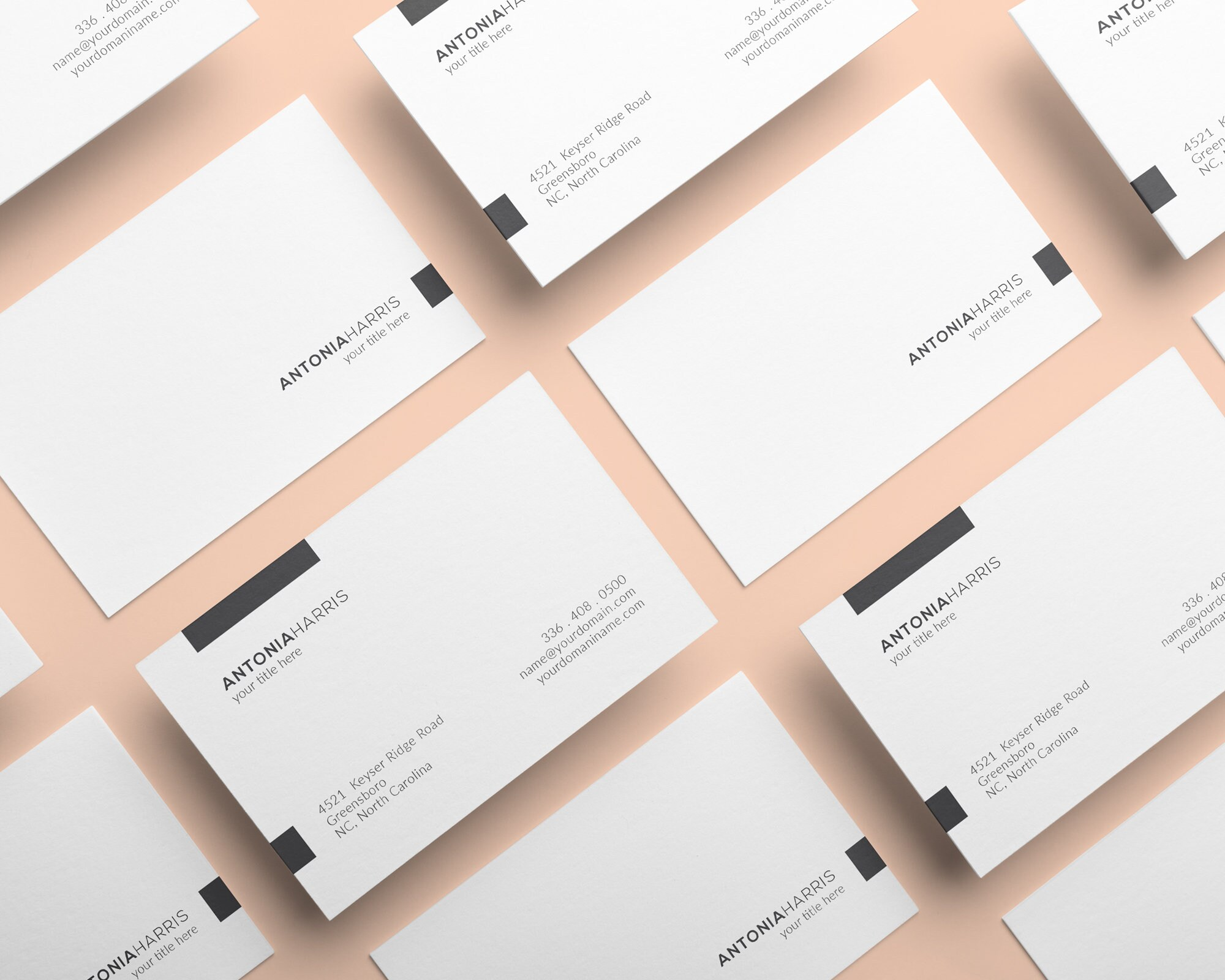 Premade Business Cards Simple Creative Business Cards Modern Etsy