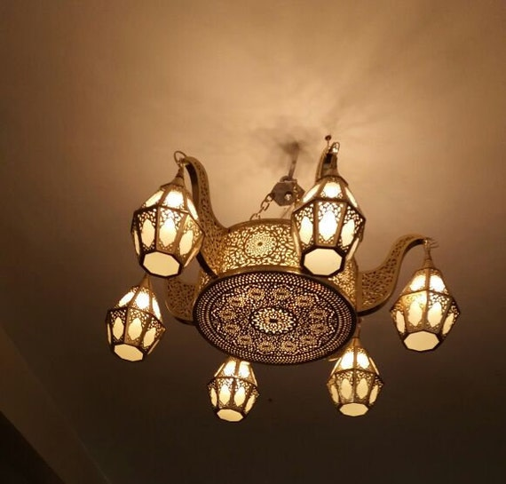 Moroccan Chandelier Wall Chandelier Traditional Chandelier Etsy