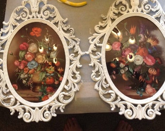 Vintage dome glass flower decor