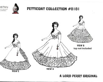 101 Petticoat Collection Sewing Pattern For Barbie PDF Download