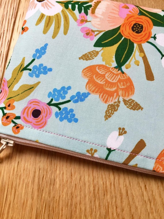 Free UK P/&P Rifle Paper Co. Mint Floral Amalfi Collection Small Purse  Coin Purse