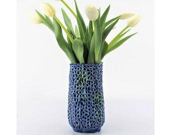 Vintage E.O. Brody of Cleveland Blue Green Treasure of Spain N-237 Vase