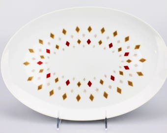 Vintage Midcentury-Style Seyei Fine China Japan Diamond 405 Serving Platter