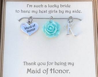 Thank you for being my Maid of Honor Necklace - C229 - Thank you Maid of Honor - Maid of Honor Thank You Gift - Maid of Honor Necklace Gift