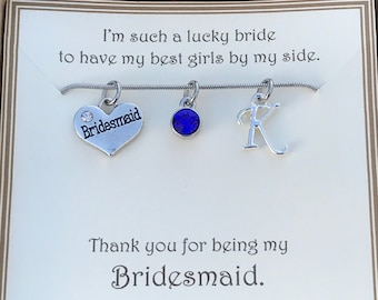 Thank you for being my Bridesmaid Necklace - C205 - Personalized Bridesmaid Necklace - Personalized Necklace - Bridal Party Necklace - Gift