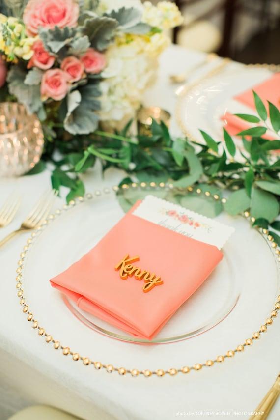 Personalisierte Hochzeit Tischkarten Laser Geschnitten Etsy