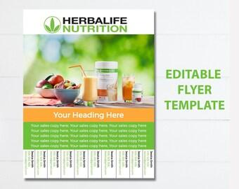 Herbalife Editable Sales Flyer Instant Download