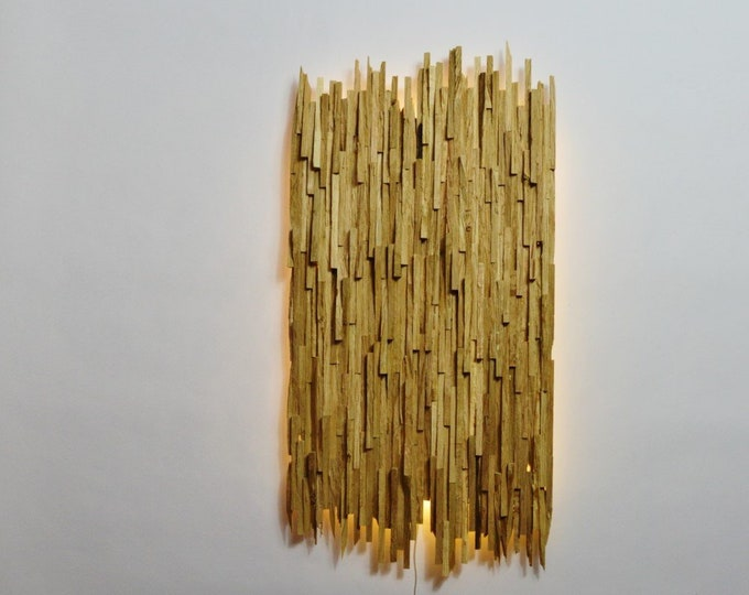 Davientha // Wooden design wall light, decorative wall art, recycled wood