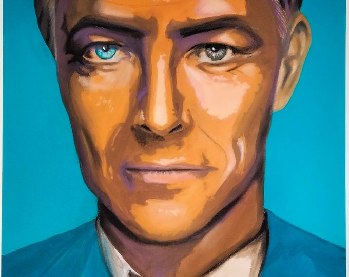 Portrait of David Bowie, Wall decoration, Square painting