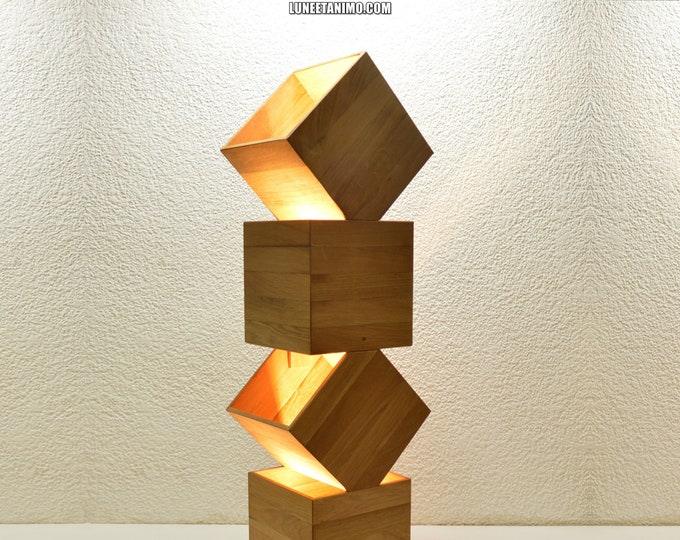 Danquen Handmade Wooden Design Floor Lamp