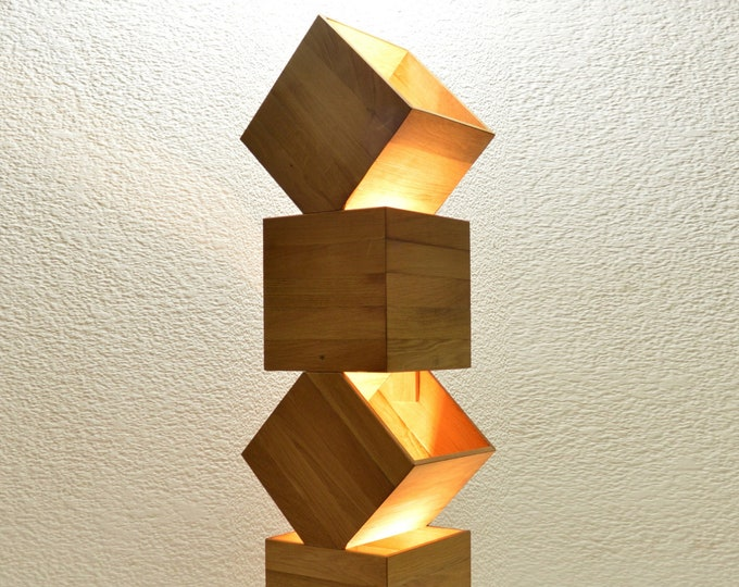 Danquen XL 85CM // Handmade Wooden Design Floor Lamp