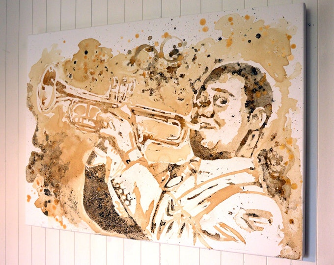 Portrait of Louis Armstrong, original painting