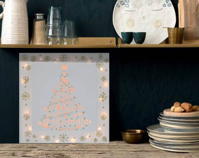 Christmas decoration, Led canvas art 'Christmas tree'