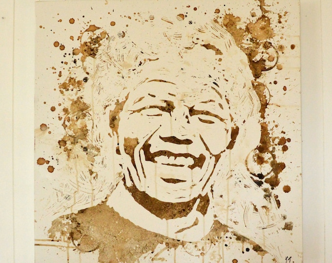 Portrait of Nelson Mandela, Madiba, original painting