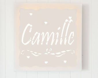 Led canvas art name or word customizable, wall decoration