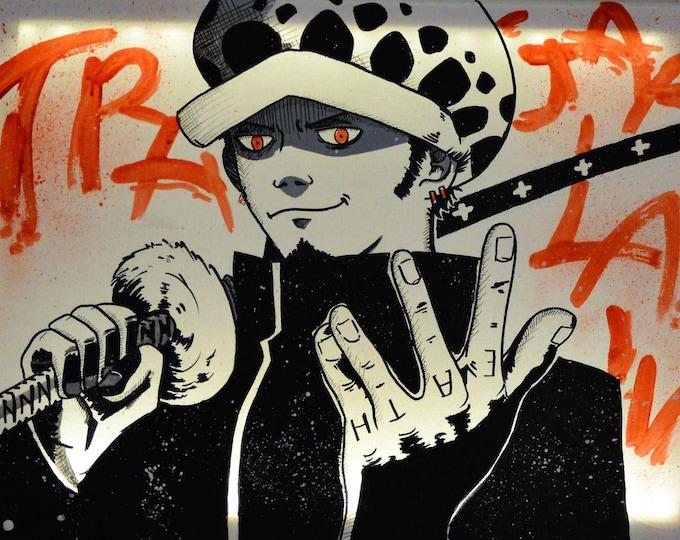 Featured listing image: Led canvas art, wall decoration 'Trafalgar Law', FAN ART