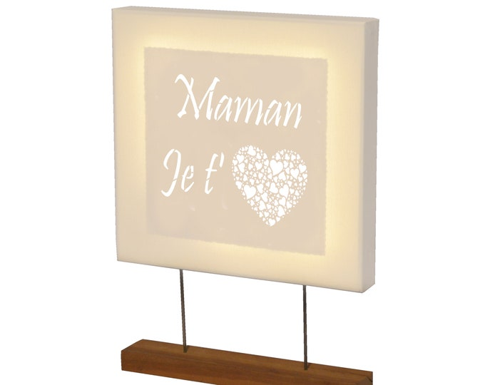 Led square canvas with customizable message and support