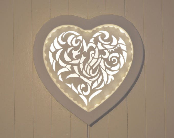 Led cut canvas art 'Heart'