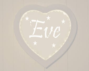 Led canvas art, name, customizable, mural decoration, night light