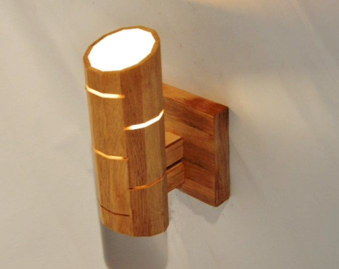 Connanvor // Wooden Design Wall lamp, from recycled oak wood