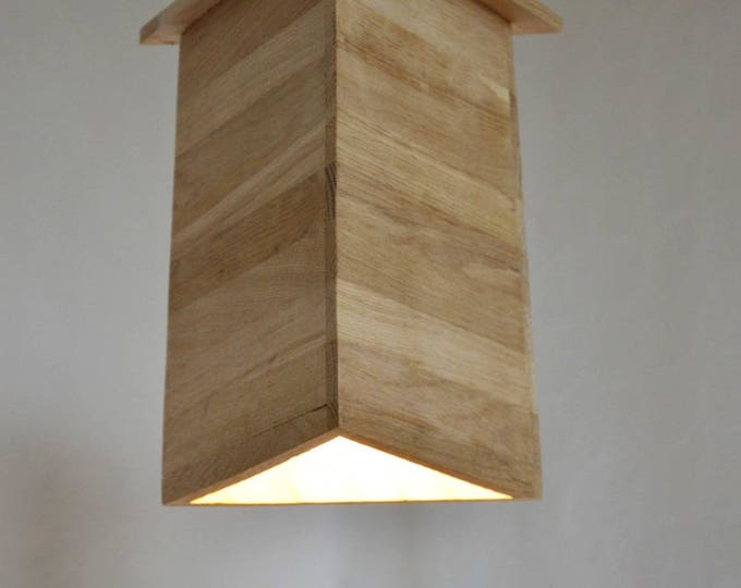 HEARTWAR // Lamp design suspension in recuperel oak wood