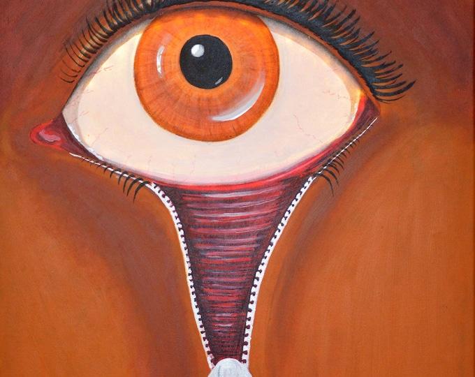 Led canvas painting 'Fashion Victim', wall decoration