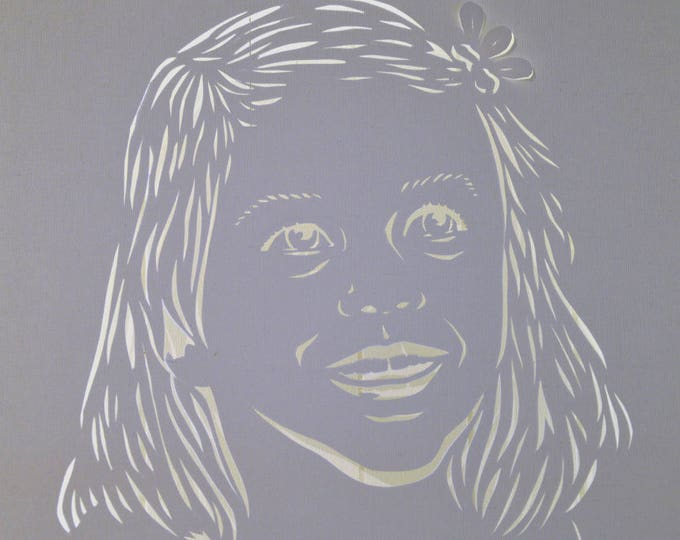 Led cut canvas 'Portraits', customizable