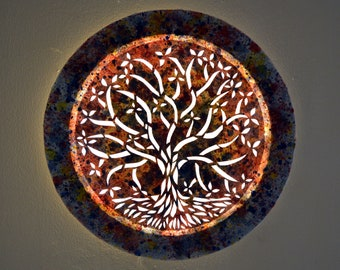 Tree of life, led wall art canvas